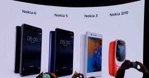 Nokia 3, 5, 6 & 3310