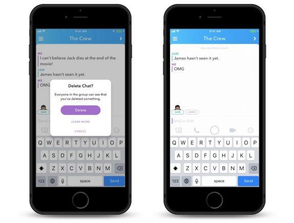 Snapchat Delete Chat