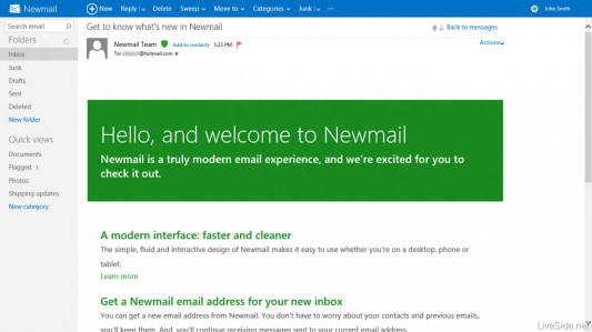 News: Hotmail Going Metro Windows Live Windows 8 Microsoft Metro UI Hotmail