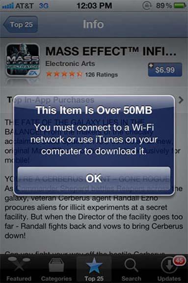 iOS App Store limit