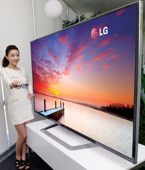 lg tv 65 inch. lg\u0027s smart tv offering this year is its giant 84-inch 4k 3d television. it features 3d, apps, magic remote with voice and motion control, lg tv 65 inch t