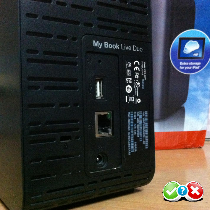 WD My Book Live Duo