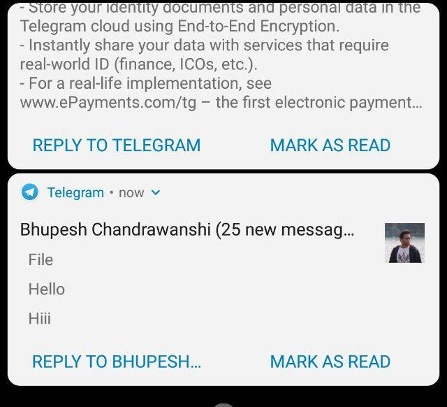"Telegram v4 9 Android update adds a new ""Mark as Read"" button"