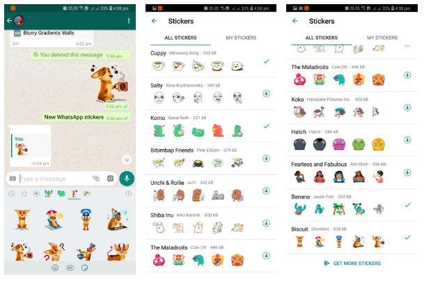 Whatsapp Stickers Update