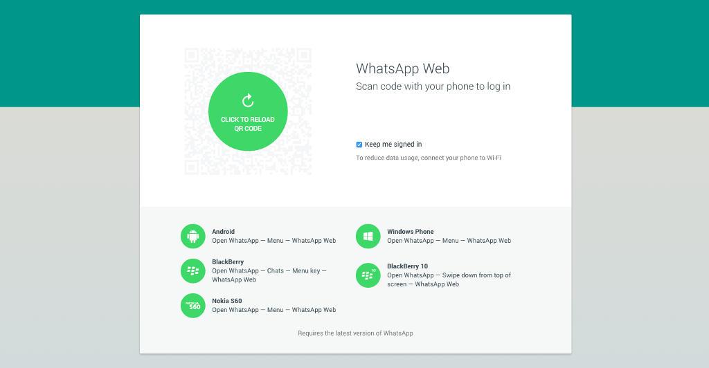 whatspp on web